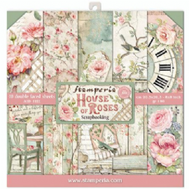 Stamperia 8x8 Paper Pad - House of Roses - SBBS08